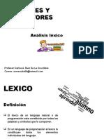 Clase 5 Analisis Lexico 2014