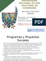 Diapositiva 1 Programas y Proyectos Sociales