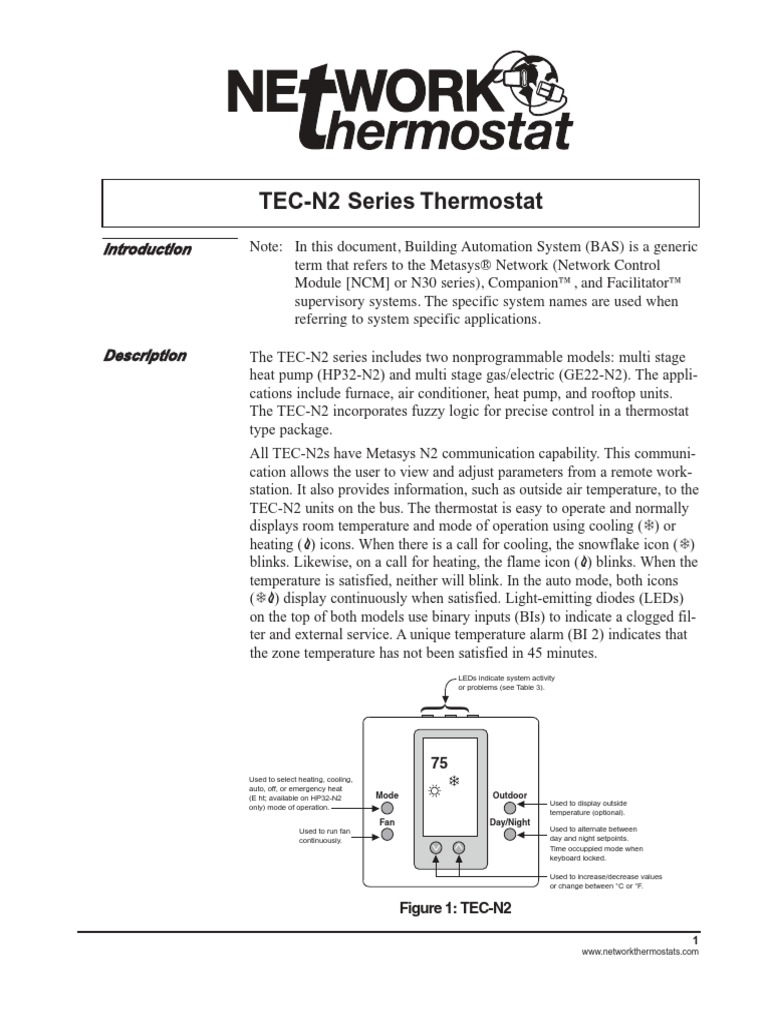 N2 Thermostat Install Guide