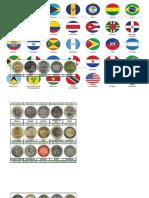 Banderas y Monedas de America