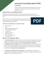 Requirement Traceability Matrix (RTM)