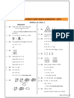 NSTSE Class 3 Solutions 2015