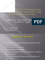 Electrochemical Technologies for Waste Water Treatment and Resource