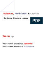english 8 class 24 subjects-predicates-and-objects-lesson
