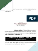 Modelo Embargos de Declaração Criminal
