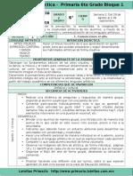 Plan 6to Grado - Bloque 1 Educación Artística (2016-2017).Doc