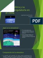 La atmosfera y su función regulatoria