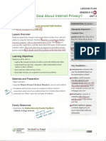 internet privacy-annotated lesson plan  common sense media