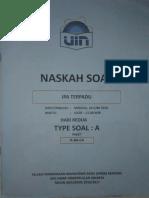 Naskah Soal Ujian Mandiri UIN( Ipa Terpadu ) TYPE SOAL A 2016/2017