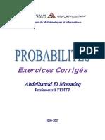 El Mossadeq Probabilités 250p