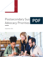 Post Secondary Success Advocacy Priorities 2016