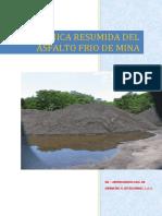 Ficha Tecnica Asfalto Frio o Asfalto Natural (Español)