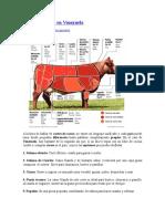 Cortes de Carne en Venezuela