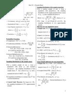 Stat 151 Formulas
