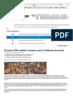 El Nuevo DNI Catalán Costará Unos 9 Millones de Euros - Bolsamanía