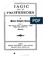 Magic and Its Professors - Henry Ridgely Evans