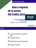 Cambios e Impacto de La Norma ISO 14001 2015