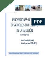 J2_7_Innovaciones_Ultimos Desarrollos en El Campo de La Emulsion_Nuria Uguet y Nuria Querol