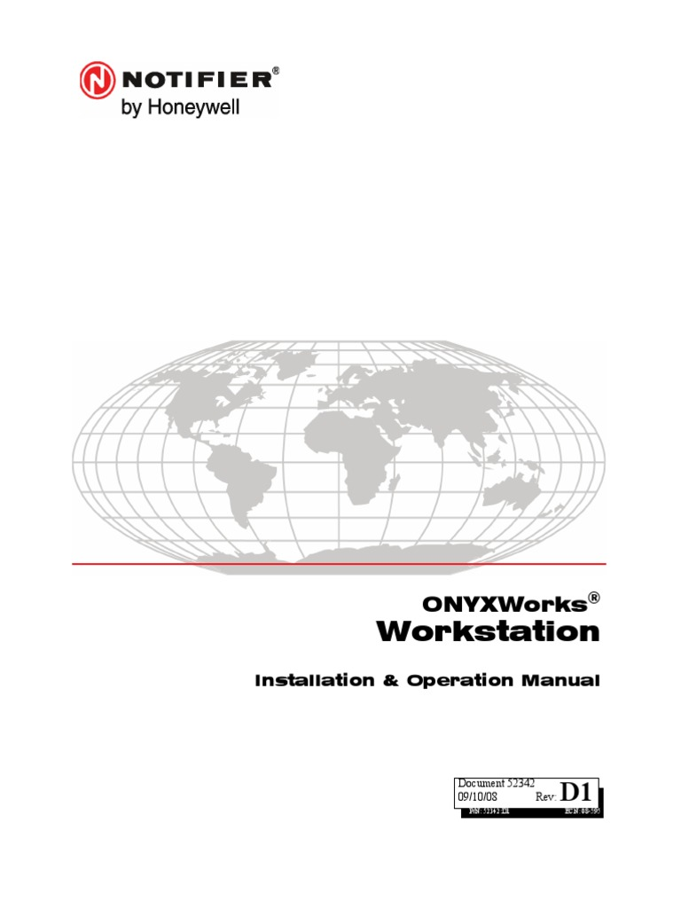 52342 Onyx Workstation Installation and Operation Manual