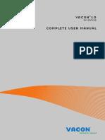 Vacon 10 User Manual DPD00717E1 En