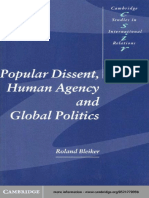 Roland Bleiker Popular Dissent, Human Agency and Global Politics (Cambridge Studies in International Relations)