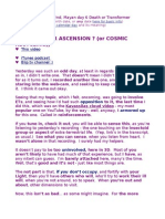 Is It Death or Ascension ? (or Cosmic Recycling;)