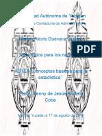 """AD1EA """"Conceptos Básicos Para La Estadística"""""""