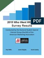 Marketing PhD Job Market Summary