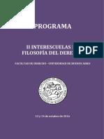Programa - II Interescuelas de Filosofia Del Derecho
