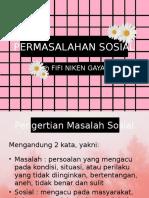 PPT Sosiologi - Kelas XI - Permasalahan Sosial