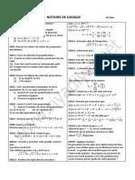 Scesnotion de logique maths sces mlath Math Exercices Notions de Logique
