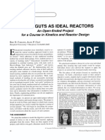 Animal Guts as Ideal Reactors (Chemical Engineering Education)