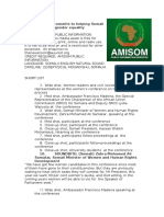 AMISOM commits to helping Somali women achieve gender parity