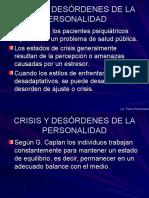 Crisis y Desórdenes de La Personalidad