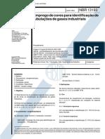 NBR 13193-Emprego de Cores Para Identificação de Tubulações de Gases Industriais