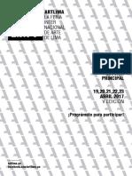Aplicación Sección Principal ArtLima 2017