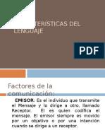 Características Del Lenguaje y ejemplos