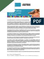 LA INOCUIDAD DE ALIMENTOS Y SU IMPORTANCIA EN LA CADENA AGROALIMENTARIA.pdf
