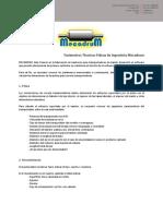 Mecadrum - Parametros tecnicos