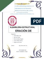 Albañileria Estructural . Segunda Unidad