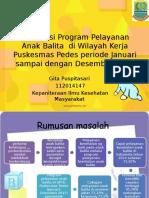 Evalusasi Program Pelayanan Anak Balita- Gita - Pedes