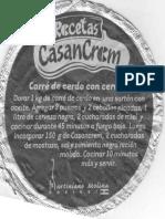 Carré de Cerdo Con Cerveza Negra