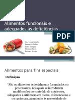 Alimentos Funcionais e Adequados Às Deficiências - Final