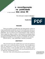 Destruição e Reconfiguração Do Corpo Na Publicidade Mundial Dos Anos 90 - Vladimir Safatle