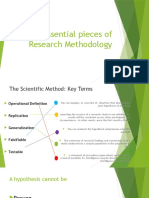 essential pieces of research methodology