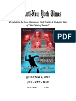 Anti-New York Times, 2015, Quarter 1  Rebuttals to Tf 'the Paper of Record' (Volume 1), The - M. S. King