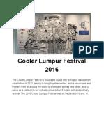 Magazine (Cooler Lumpur Festival 2016)