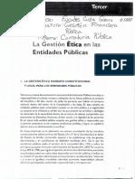 Gestión Etica en Las Entidades Publicas