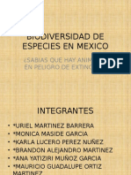 Biodiversidad de Especies en Mexico