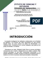 Diapositivas de Tesis Duelo